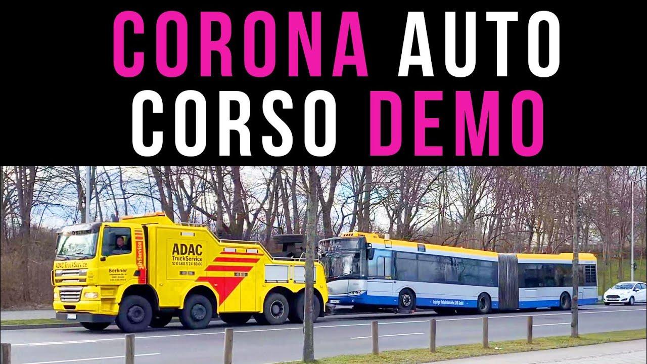 Corona-Autocorso-Demo in Leipzig