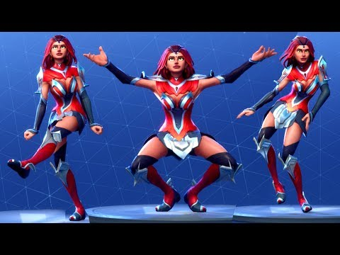 Fortnite Valor Costume Performs All Dances Season 1-4