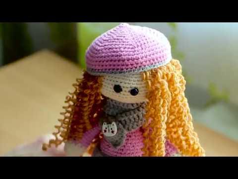 видео: Как сделать волосы для куклы (Амигуруми)