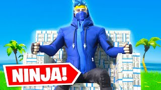 NINJA STREAMS ON YOUTUBE & RECIEVES 1000's IN DONATIONS! (Is It Right?) / Fortnite Battle Royale!