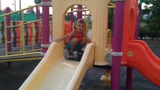 çocuk Parkında Akşam Oyunları . Child Park Games