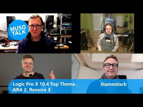 Logic Pro X 10.4 Update Top Thema, ARA 2, Revoice 3 - Stammtisch