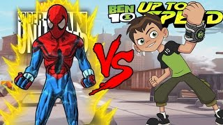 Spider-Man Unlimited VS Ben 10: Up to Speed EPIC BATTLE!