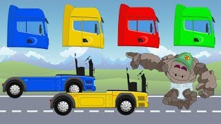 Learn Colors with Trucks | Street Vehicles colours for Kids to learn with Names and Sounds