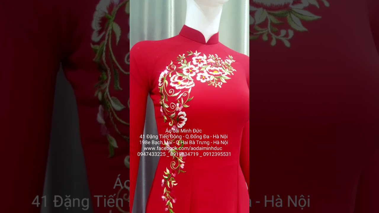 Top mẫu áo dài đẹp xuất sắc tháng 12