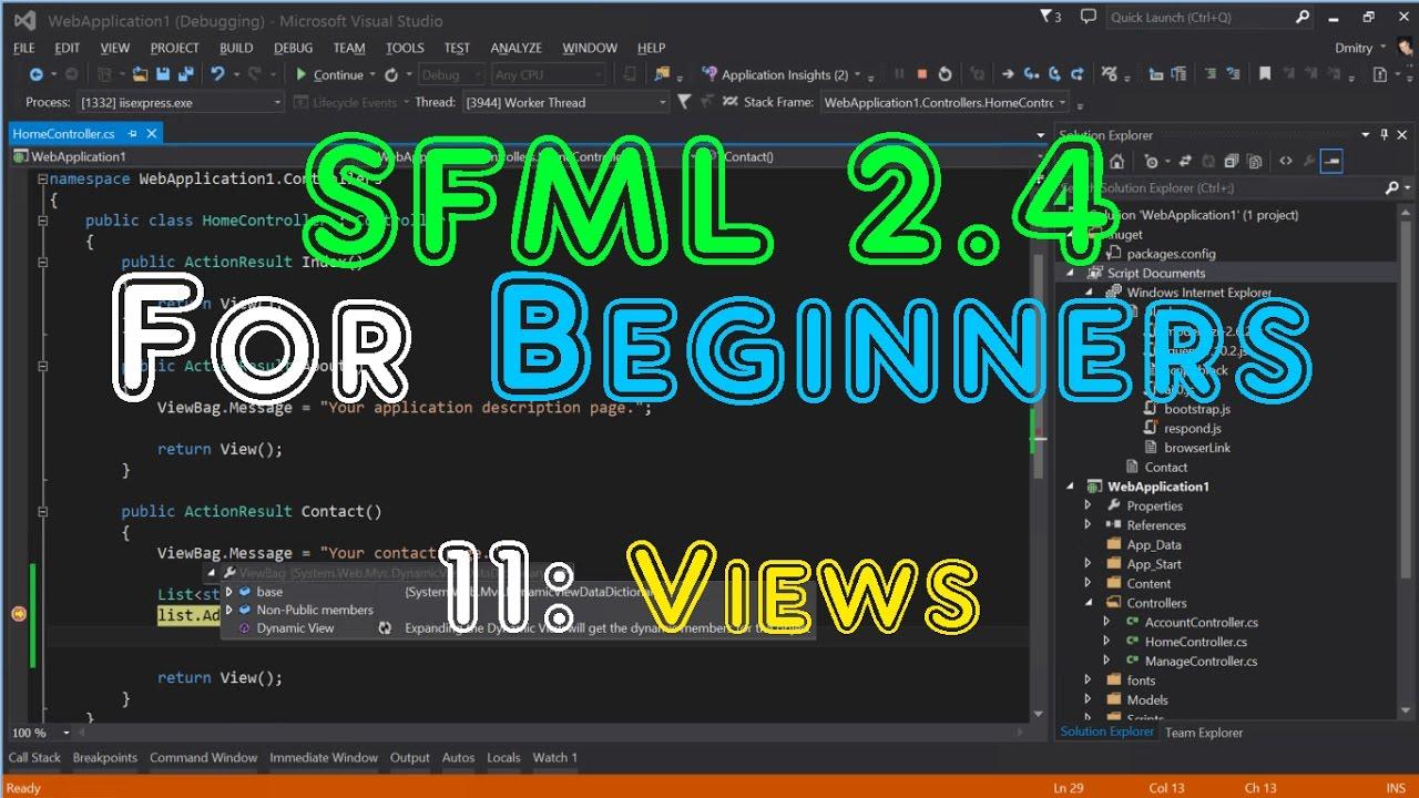 SFML 2 4 For Beginners - 11: Views