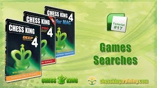 Chess King 4 Tutorial 17 - Games and Searches in Chess King 4 for PC/Mac