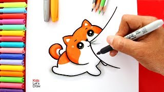 Aprende A Dibujar Un Gato Kawaii Fácil How To Draw A Cute