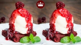 Brownie Red Velvet e Sorvete de Cream Cheese por Gabriela Rossi