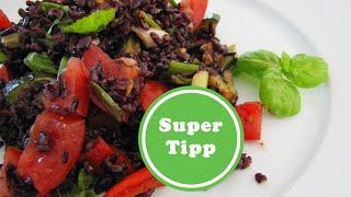 Reis mit halben Kalorien | mediterraner Reissalat | Venere - IL RISO GALLO NERO | vegan