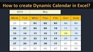 Creating Dynamic Calendar in Worksheet (No Macro) - Simple and Easy
