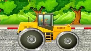 Машинки мультики. Дорожно-строительная техника для детей. Строим новую дорогу - мультфильм