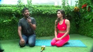 World Yoga Day | Live देखिए Fit Tak की गरिमा भंडारी , Sports Tak के विक्रांत गुप्ता
