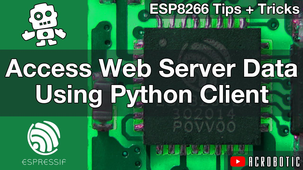 ESP8266 Web Server Access With Python Client And Arduino IDE (Mac OSX and  Windows)