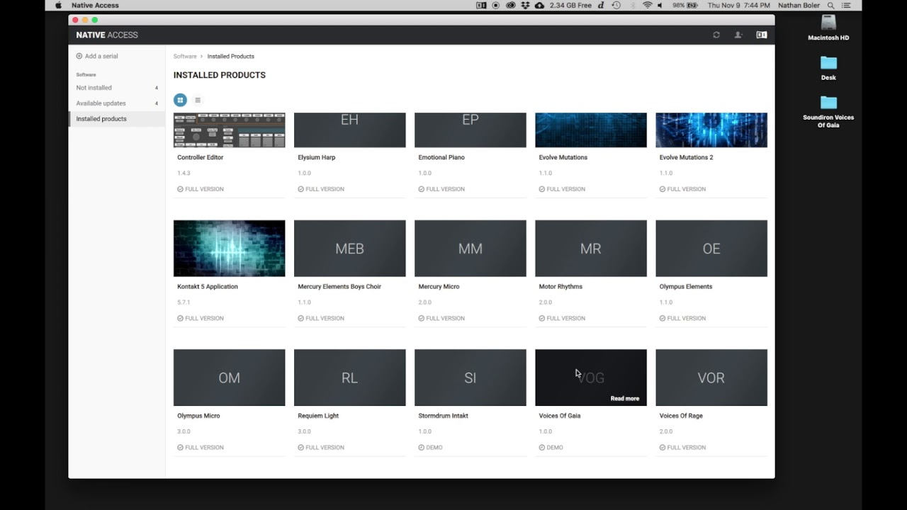 Soundiron - Voices of Gaia library installation tutorial for Native Access  and Kontakt