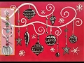 Whimsical Christmas Ornaments Acrylic Painting Tutorial for Beginners LIVE