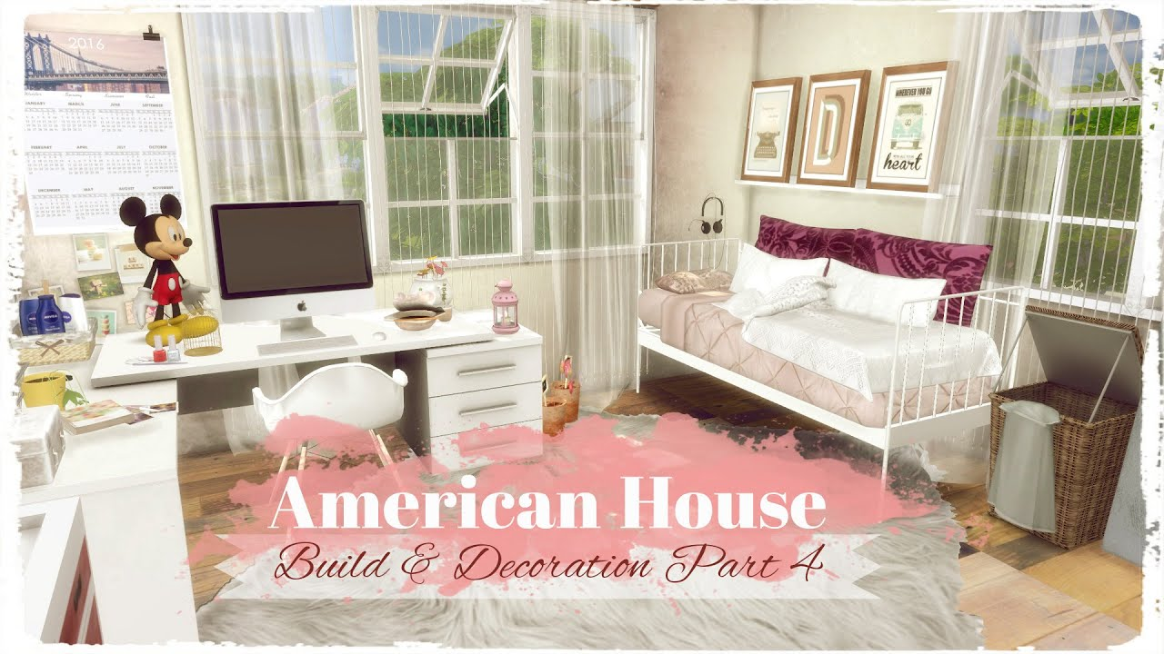 Sims 4 american style house build decoration part 4 for American style house interior