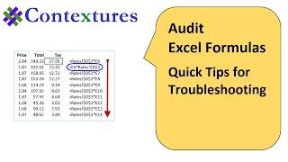 Auditing Excel Formulas - Quick Tips