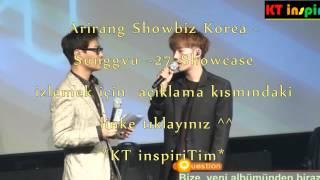 Türkçe Altyazılı 150526 Arirang Showbiz Korea - Sunggyu -27- Showcase