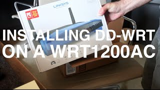 Installing DD-WRT firmware on the Linksys WRT1200AC Wireless Router