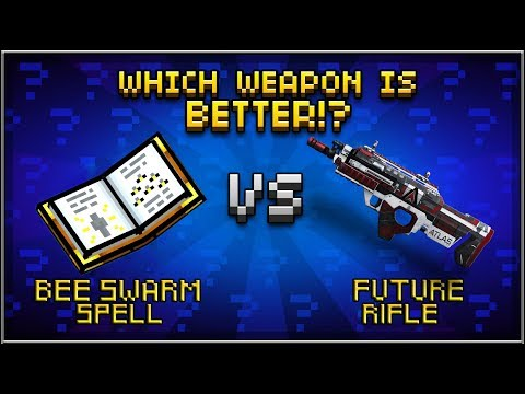 Pixel Gun 3D - Bee Swarm Spell VS Future Rifle
