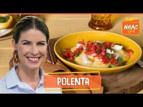 Polenta cremosa com refogado de legumes e salada caprese  Rita Lobo  Cozinha Prática