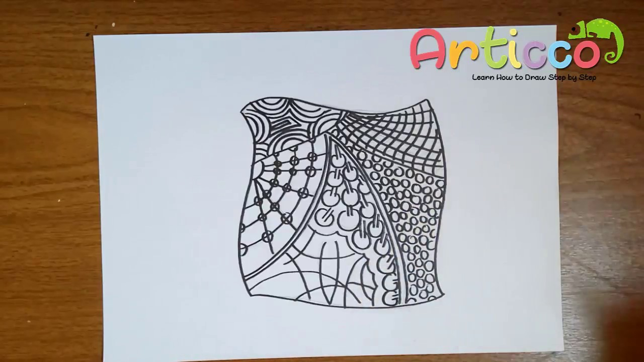 How To Draw Zentangles Step By Step For Kids Youtube