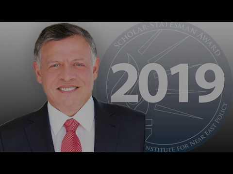 King Abdullah II ibn Al Hussein of Jordan,  the 2019 Scholar-Statesman Award Recipient