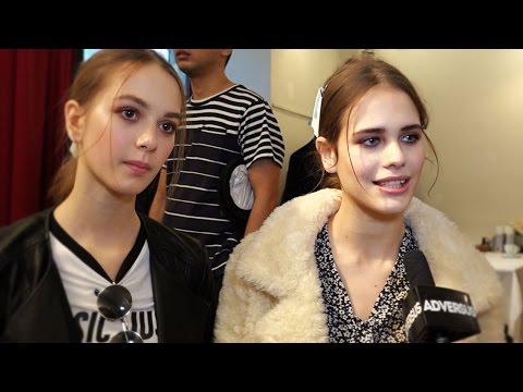 Dasha & Alex, two beautiful models backstage at Blugirl