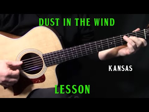 """how to play """"Dust In the Wind"""" on guitar by Kansas acoustic guitar lesson tutorial"""