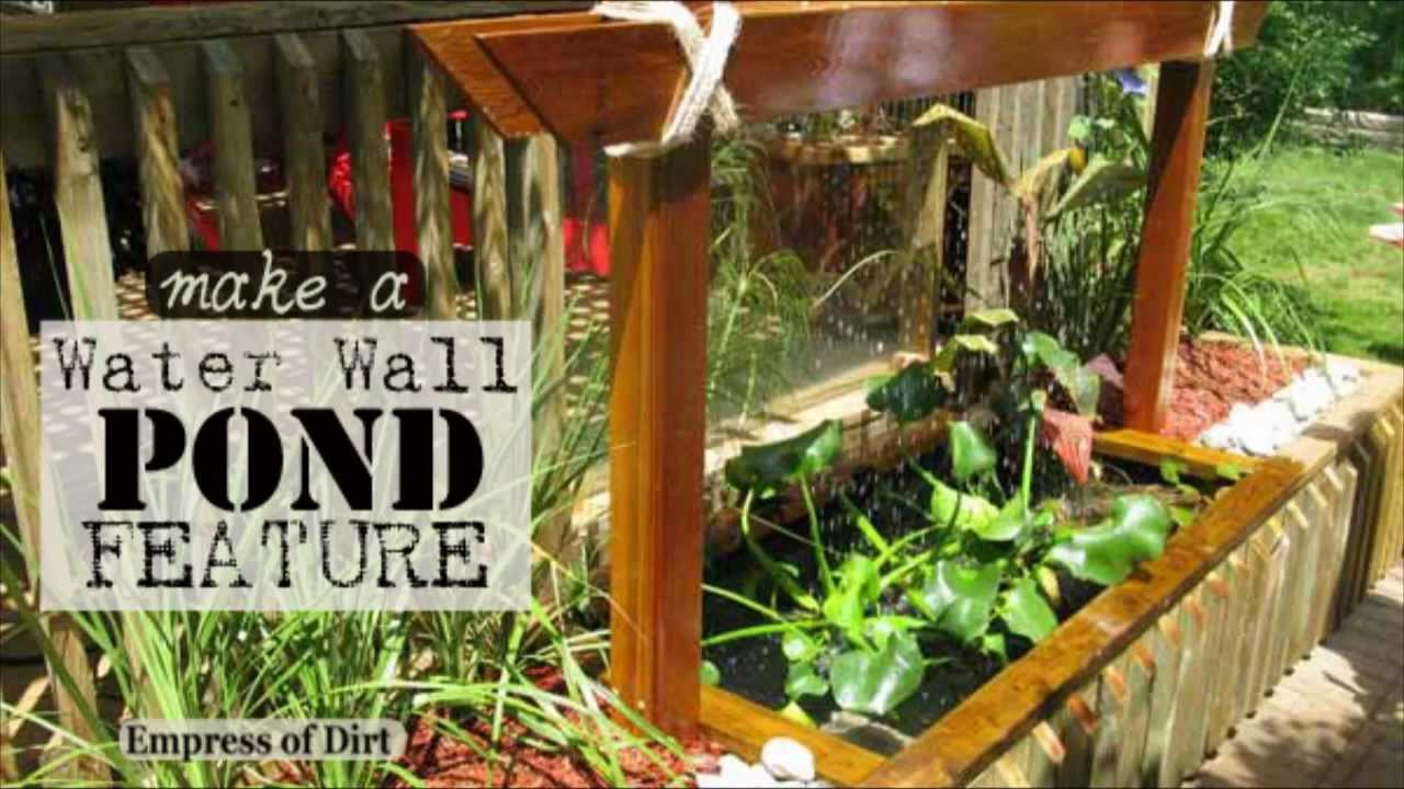 Diy make a water wall pond feature youtube for Garden pond making