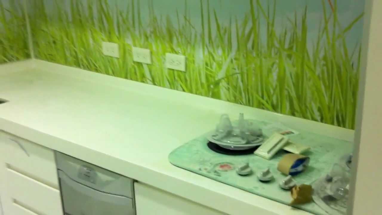 廚房形象氛圍藝術壁紙貼圖 - YouTube