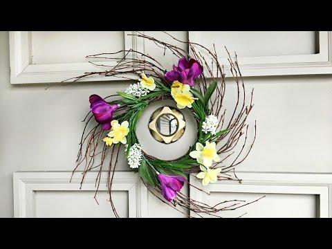 DIY Spring Wreath - Easter Decorating - Floral