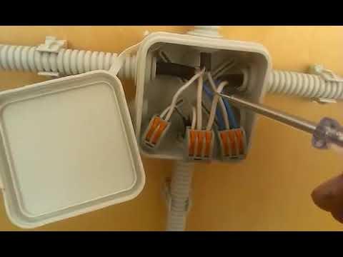 Подключение розетки и выключателя