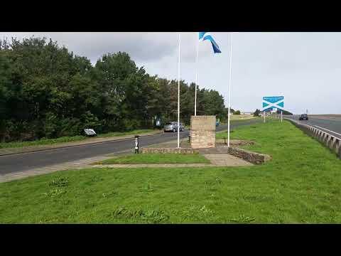 Scotland Welcome Sign - VIDEO TOUR (English-Scottish Border, UK)