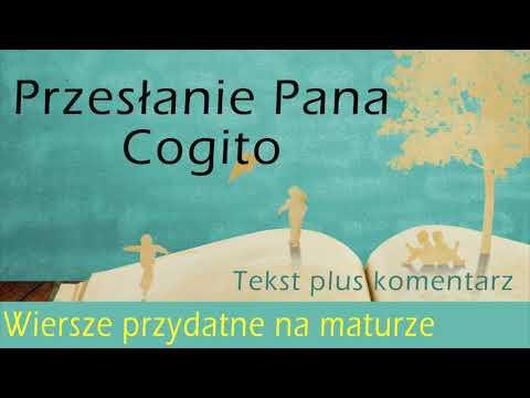 01 Przesłanie Pana Cogito Tekst I Omówienie Wiersze