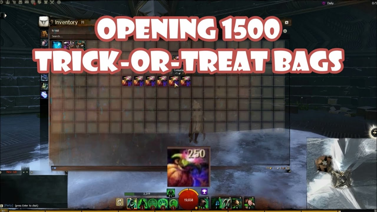 how to get trick or treat bags in mineplez