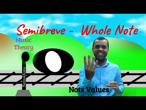 Semibreve - Whole Note -  Music Notes Values  - Music theory - Lesson 5