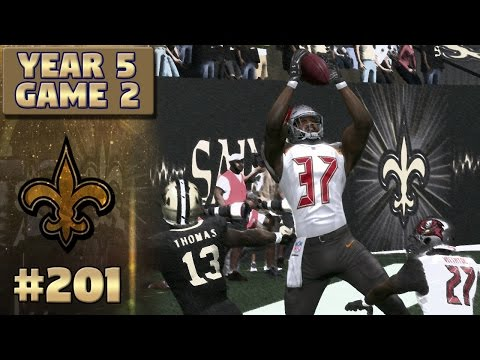 Saints vs Bucs Highlights (S5,G2) | Madden NFL 17 New Orleans Saints Franchise Ep. 201