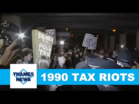 1990 Poll Tax Riots | Thames News Archive Footage
