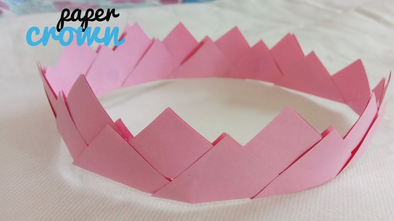 Diy How To Make Paper Crown Easy Simple Paper Craft Youtube