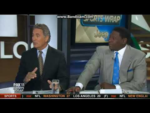 "KTTV Fox 11 ""Sports Wrap"" open September 17, 2017"