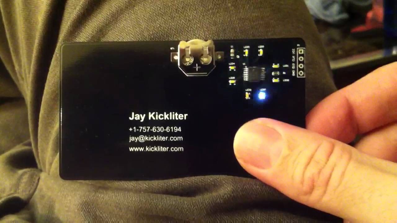 Capacitive Touch PCB Business Card - YouTube