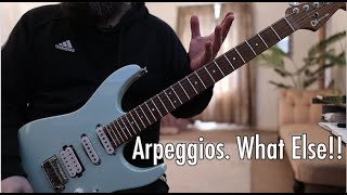 First Lesson With My New Signature Charvel - Arpeggios. What Else!!
