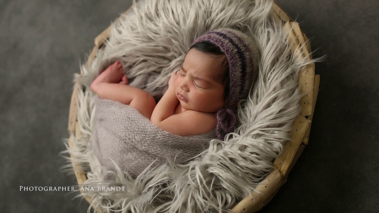 Newborn baby photoshoot in studio by ana brandt music by evan brandt