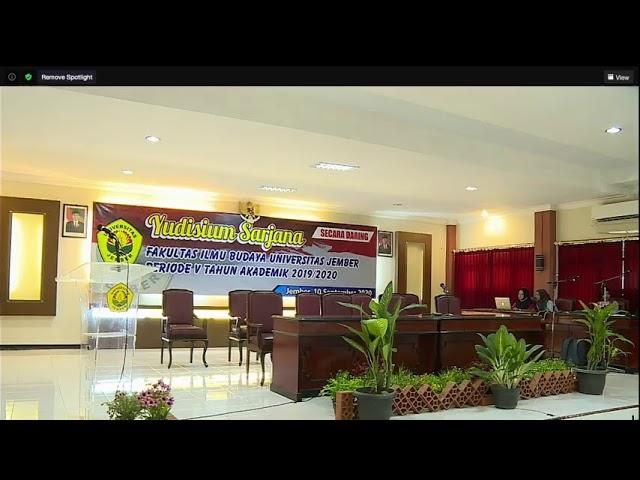 Gladi Bersih Yudisium FIB Unej Periode V 2019/2020