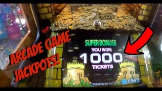ARCADE GAME TICKET JACKPOTS! Golden Empire Coin Pusher Fun Win! Tickets Jackpot Games Winner | Jdevy