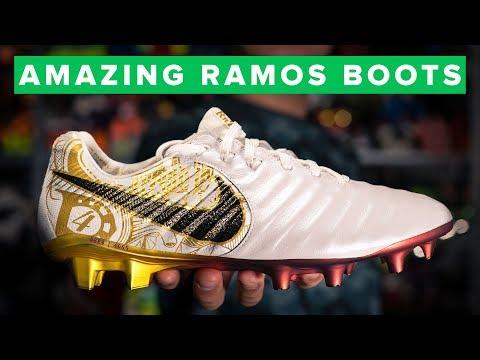 WHITE & GOLD Nike Tiempo Legend 7 Sergio Ramos boots