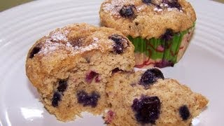 Gluten Free Banana Muffins With Blueberries