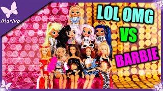 BARBIE czy LOL OMG ???  Zamiana ubrań lalek *śmieszne*  Zabawa z lalkami po polsku